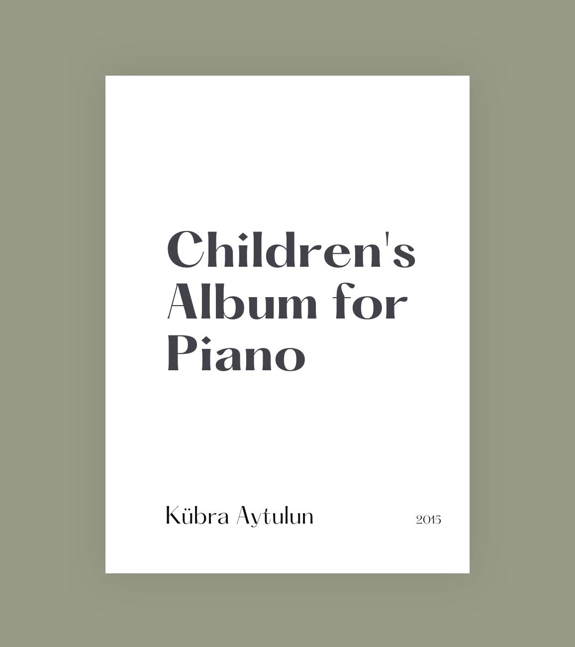 Children's Album for Piano